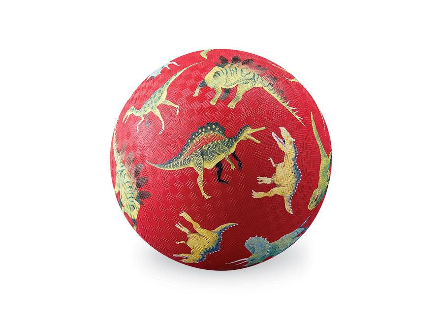 5 Inch Playground Ball - Dinosaurs Red