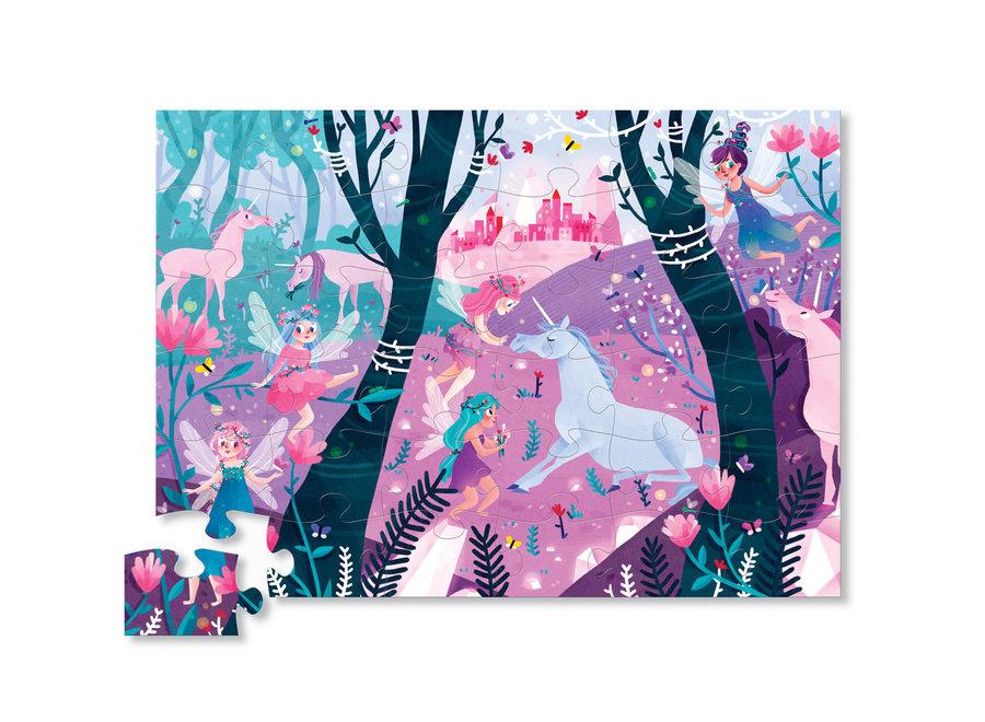 Classic Floor Puzzle 36 pc - Unicorn Forest