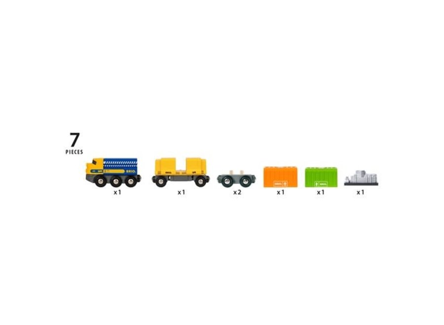 BRIO Train - Three-Wagon Cargo Train 7 pieces