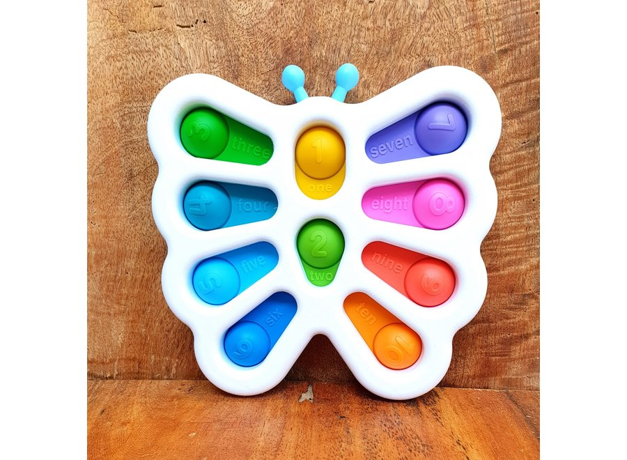 Butterfly Fidget Toy Butterfly With Numbers