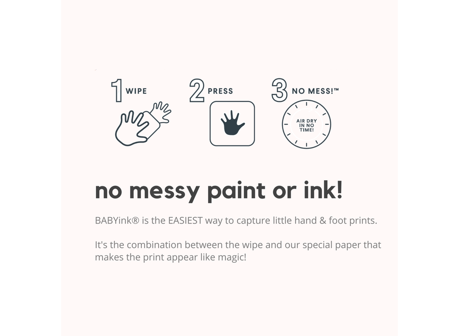 BabyInk - Blue Ink-less Print Kit