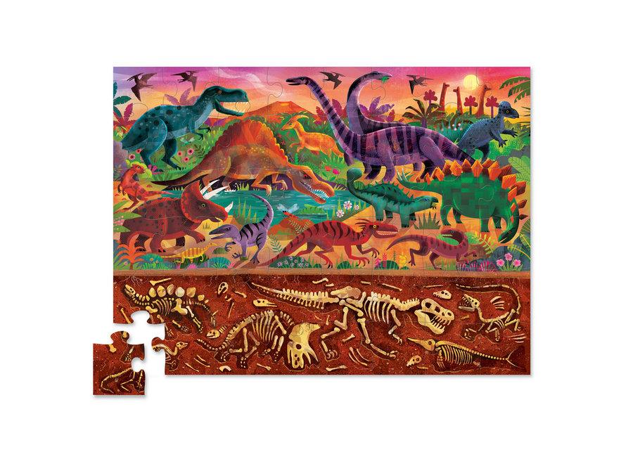 48pce Above & Below Dinosaur World