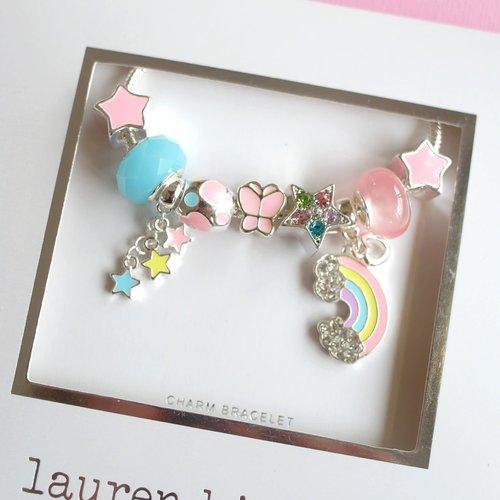 Lauren Hinkley Somewhere Over the Rainbow Charm Bracelet