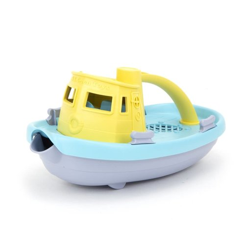 Green Toys - Tug Boat - Grey/Yellow/Turquoise