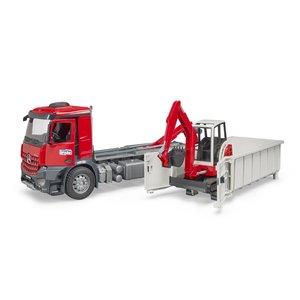 BR 1:16 MB Arocs Truck w/Roll-off Container & Schaeff Excavator