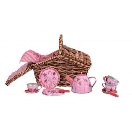 Tin Tea Set - Lady Bug In A Basket