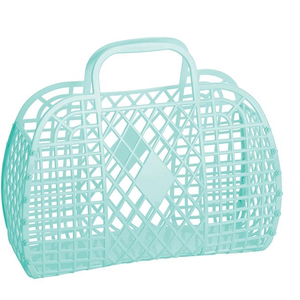 Sun Jellies Retro Basket Mint- Small