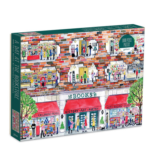 Galison 1000 Pc Puzzle – Michael Storrings Day at the Bookstore