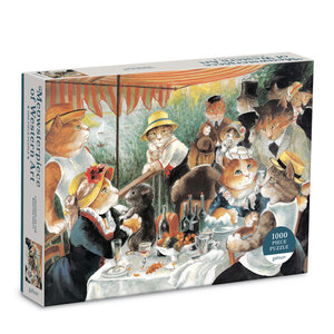 Galison 1000 Pc Puzzle – Lunch on Boating Party Meowsterpiece