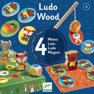 Djeco Ludo Woodland Animal 4 Game Set