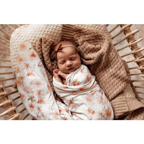 Snuggle Hunny Paradise | Baby Jersey Wrap & Beanie Set
