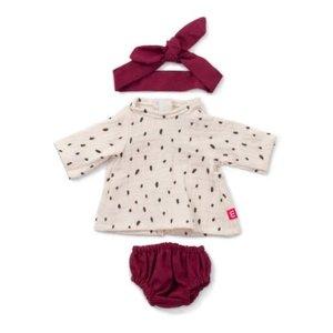 Miniland Miniland Clothing Sand Sand Dress and Hairband Set, 38 cm