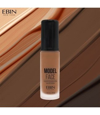 Ebin Model Face Liquid Foundation - Peanut Butter Brown