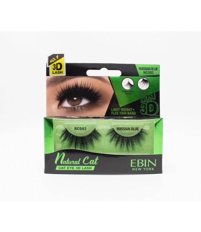 Ebin Natural Cat Ebin 3D Lashes - Natural Cat Russian Blue