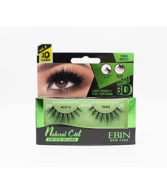 Ebin Natural Cat Ebin 3D Lashes - Natural Cat York