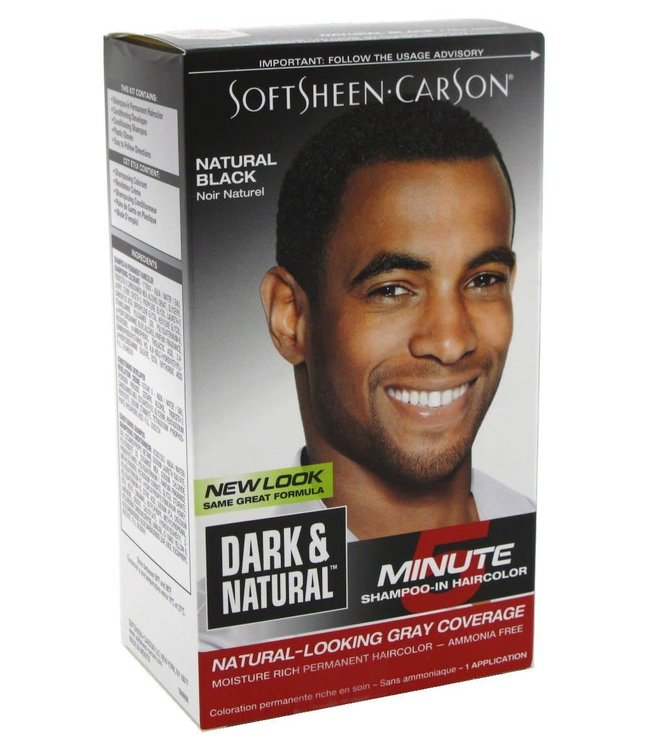 Dark & Natural Hair color for men - Natural Black