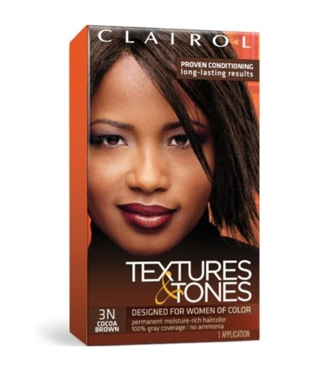 Clairol Textures & Tones Hair Color - Cocoa Brown #3N