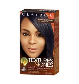 Clairol Textures & Tones Hair Color - Silken Black #1B