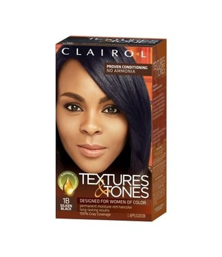 Clairol Textures & Tones Hair Color - Silken Black #1B