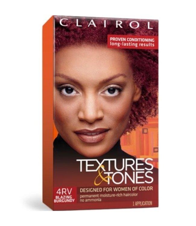 Clairol Textures & Tones Hair Color - Blazing Burgundy #4RV