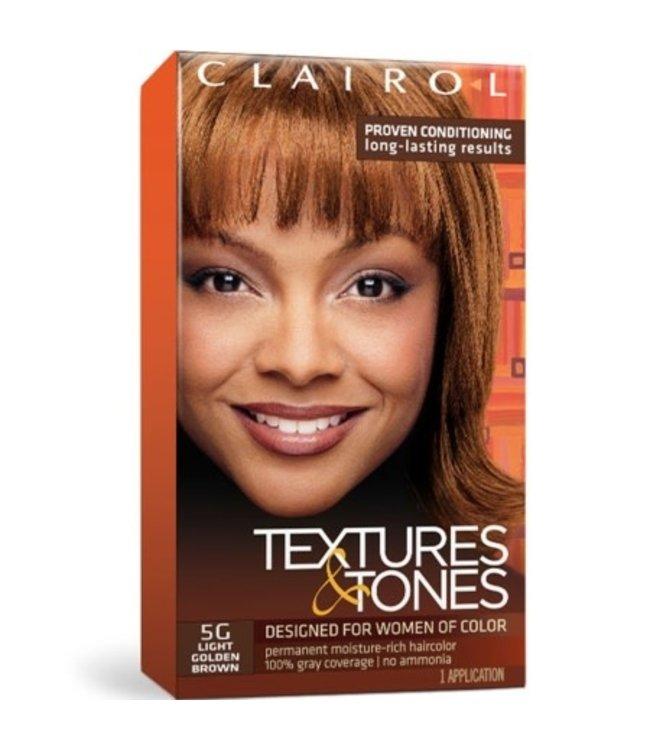 Clairol Textures & Tones Hair Color - Light Golden Blonde #5G