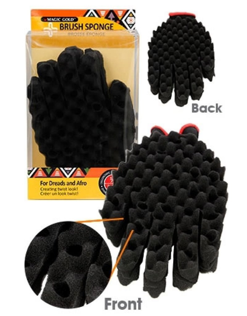 Magic Collection Brush Sponge 5/8'' - Double side glove