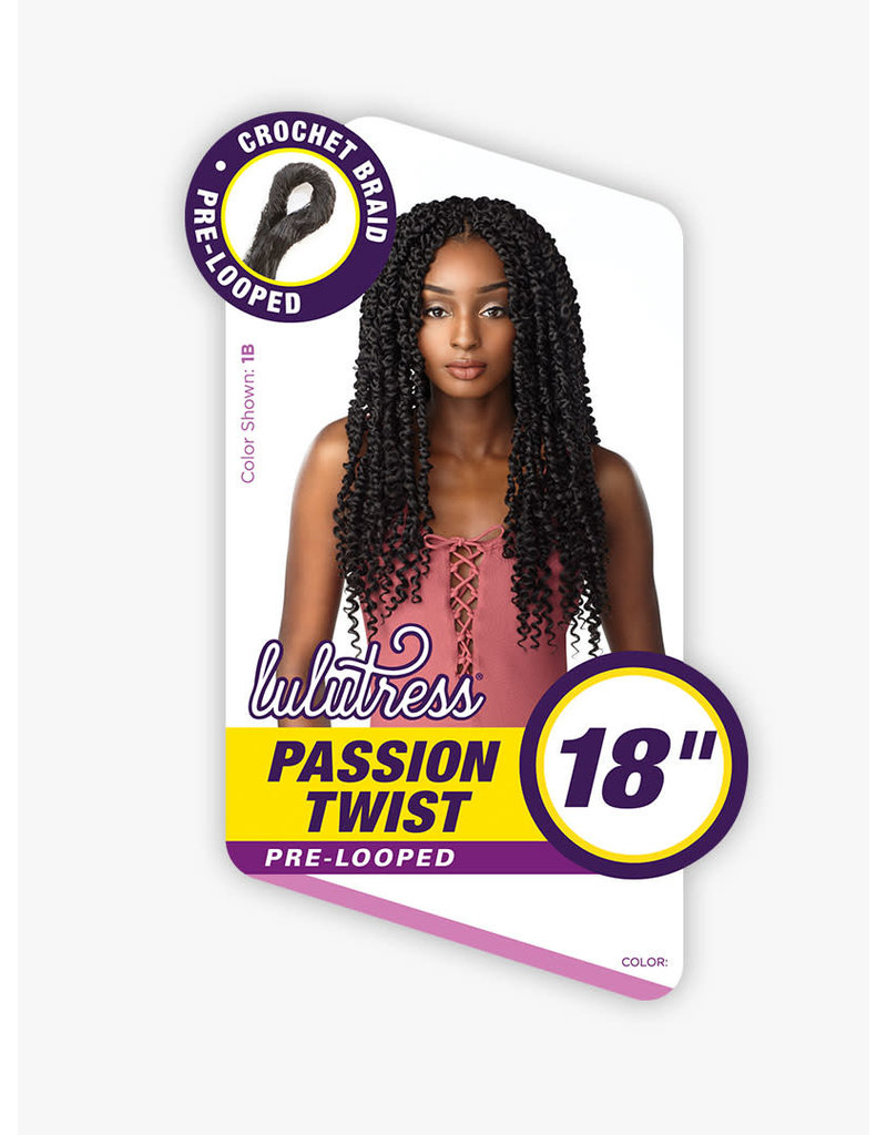 "Lulutress Passion Twist 18"" - 1B"