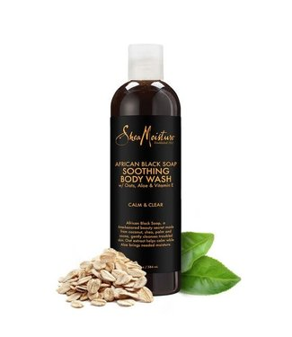 Shea Moisture SM African Black Soap Body Wash 13z