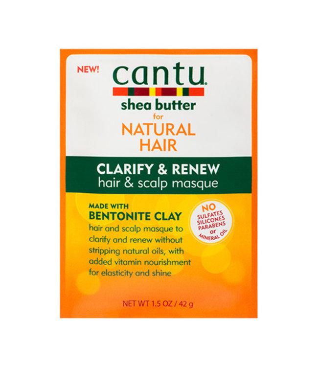 Cantu Shea Butter Clarify & Renew Hair & Scalp Masque - Bentonite Clay 1.5oz