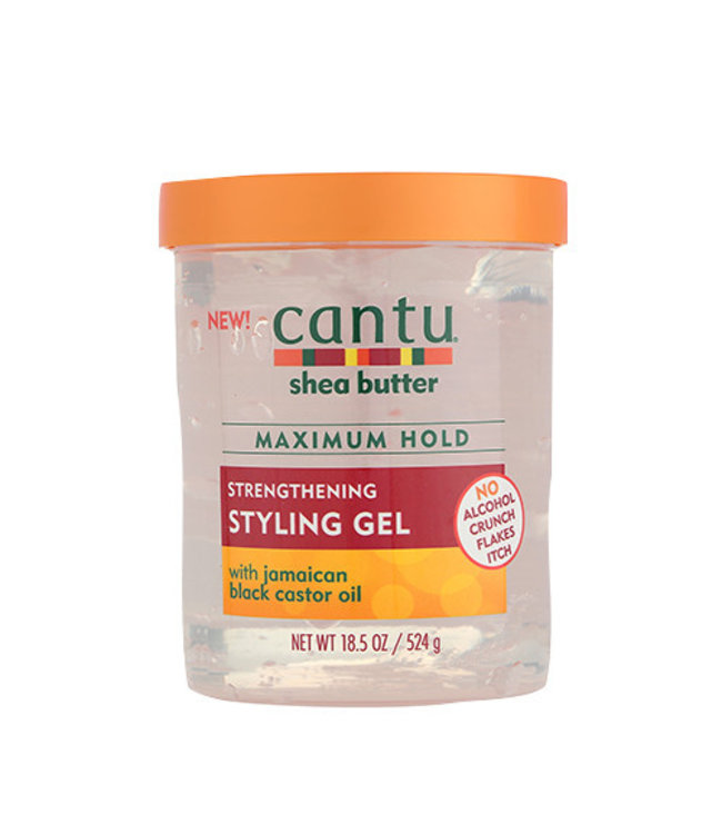 Cantu Shea Butter Maximum Hold Strengthening Styling Gel w/Jamaican Black Castor Oil 18.5oz