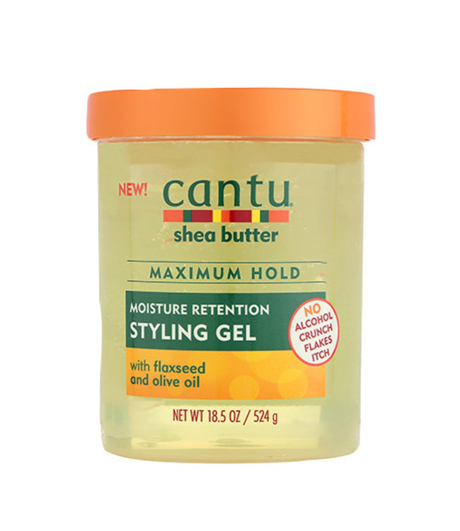 Cantu Shea Butter Maximum Hold Moisture Retention Styling Gel w/Flaxseed & Olive Oil 18.5oz