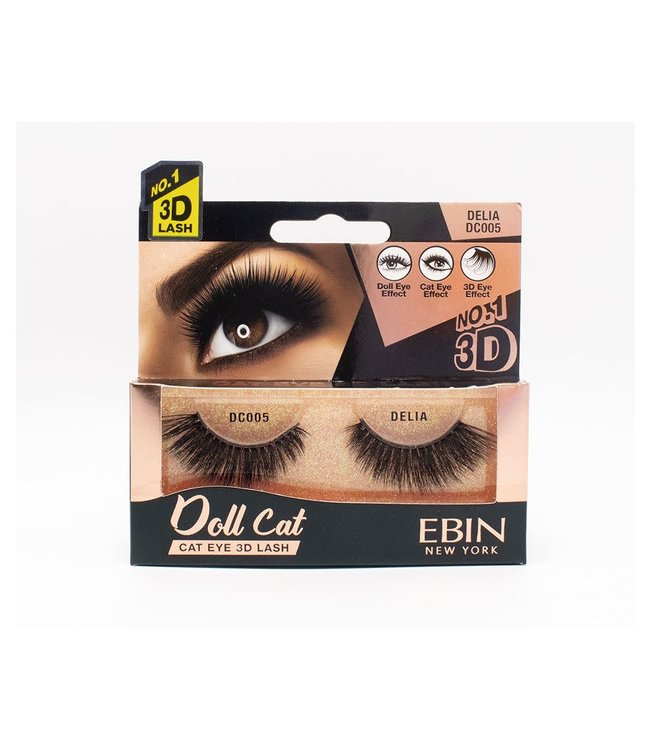 Ebin Doll Cat 3D Lashes - Doll Cat Delia