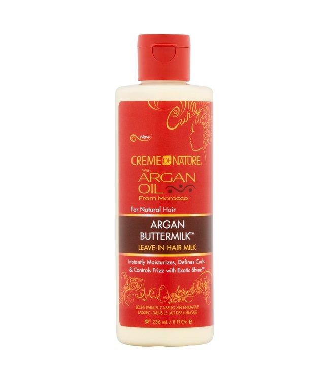 Creme Of Nature Argan Oil Buttermilk Leave-in Hair Milk 8oz
