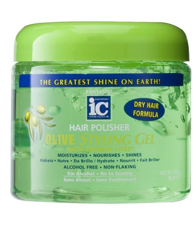 Fantasia IC Hair Polisher Olive Styling Gel 16oz