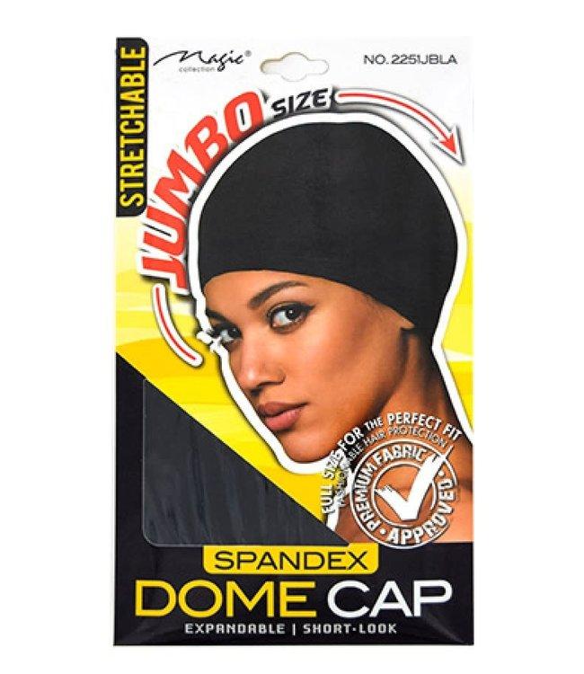 Magic Collection Spandex Dome Cap (MGC 2251) Jumbo - Black