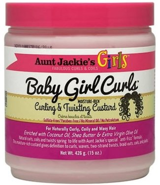 Aunt Jackie's Girls Baby Girl Curls - Curling & Twisting Custard 15oz