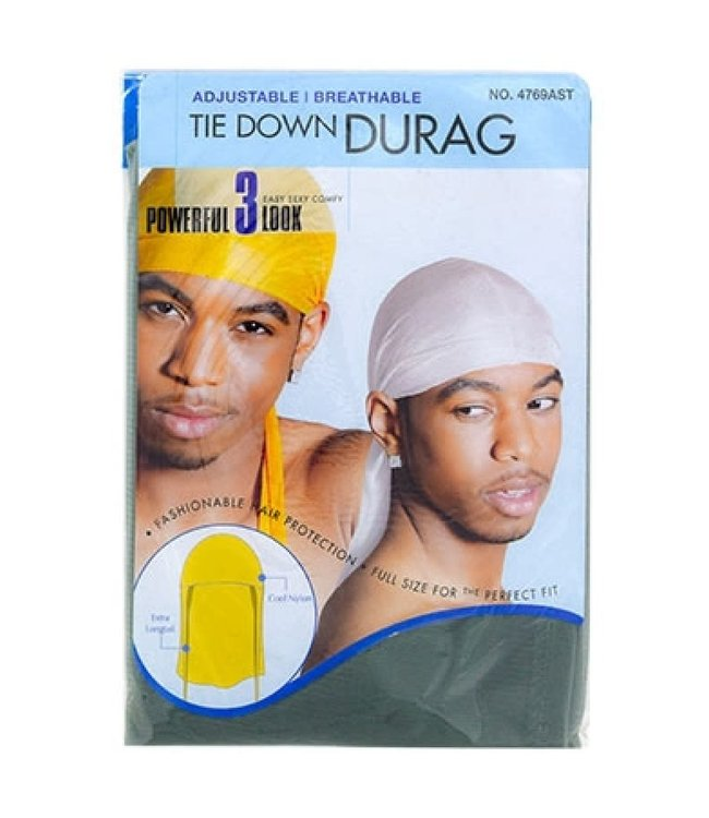 Magic Collection Tie Down Du Rag - Black