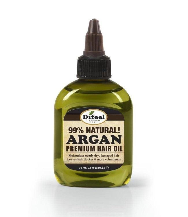 Difeel 99% Natural Premium Hair Oil - Argan 2.5oz