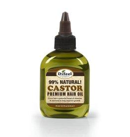 Difeel 99% Natural Premium Hair Oil - Castor 2.5oz