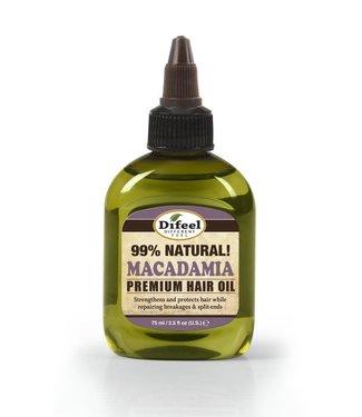 Difeel 99% Natural Premium Hair Oil - Macadamia 2.5oz