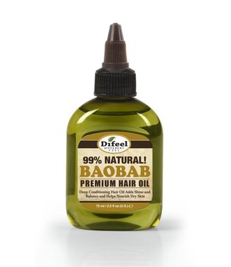 Difeel 99% Natural Premium Hair Oil - Baobab 2.5oz