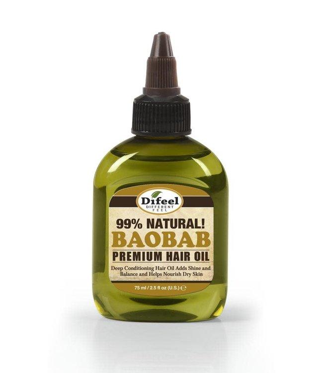 Difeel 99% Natural Premium Hair Oil - Baobab 2.5oz
