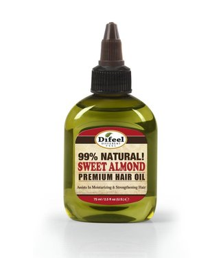 Difeel 99% Natural Premium Hair Oil - Sweet Almond 2.5oz
