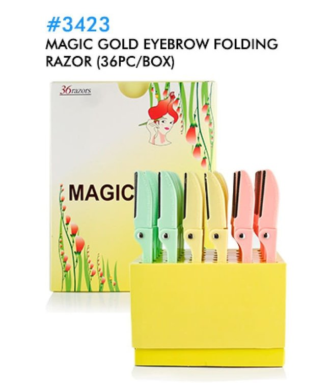 Magic Collection Velvet Folding Eyebrow Razor - 1pc