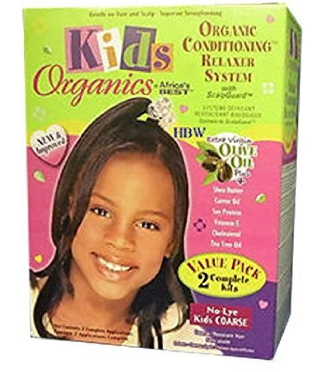 Africa's Best Kids Organic s Conditioning Relaxer System No Lye - Coarse Twin Kit