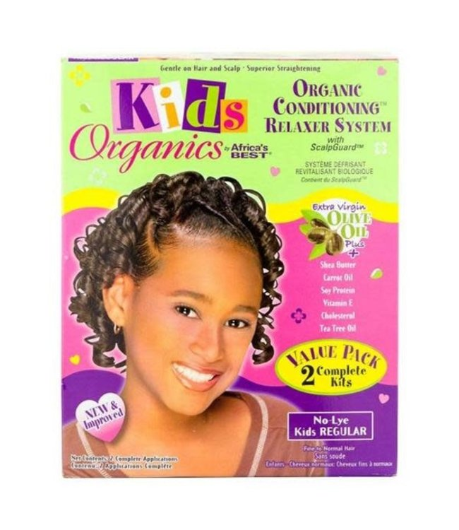 Africa's Best Kids Organics Conditioning Relaxer System No Lye - Regular Twin Kit