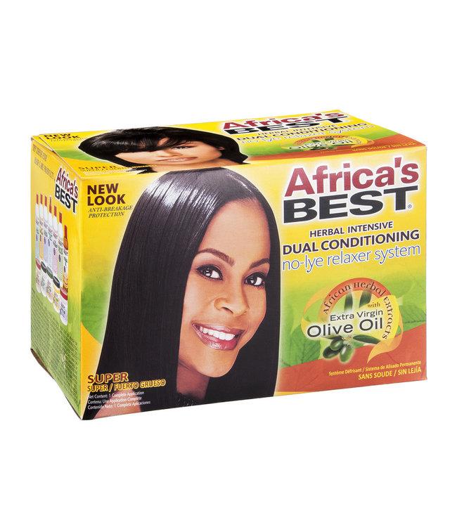 Africa's Best Olive Oil No Lye Relaxer Kit - Super Strength
