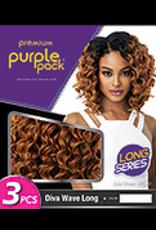 Purple Pack Diva Wave (Long) - 3 pieces