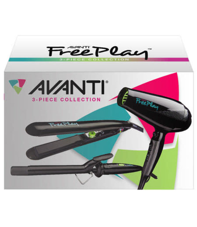 Avanti FreePlay Professional Styling Trio w/snap-on nozzle & diffuser