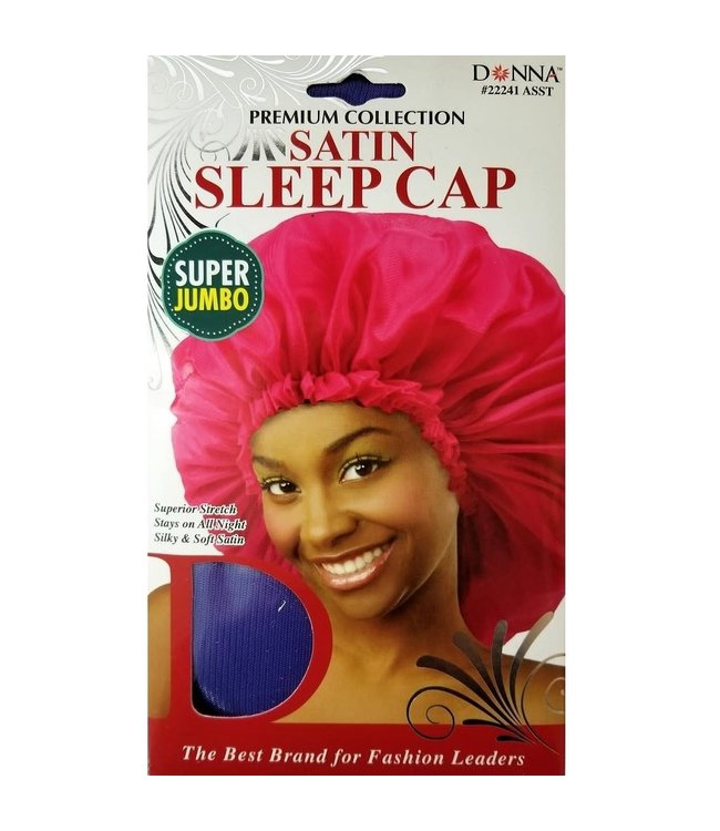 Donna Satin Sleep Cap - Super Jumbo